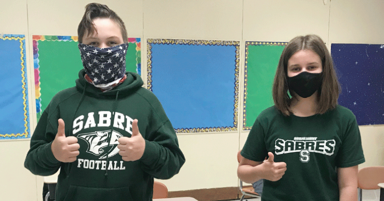 Students with Schalmont attire