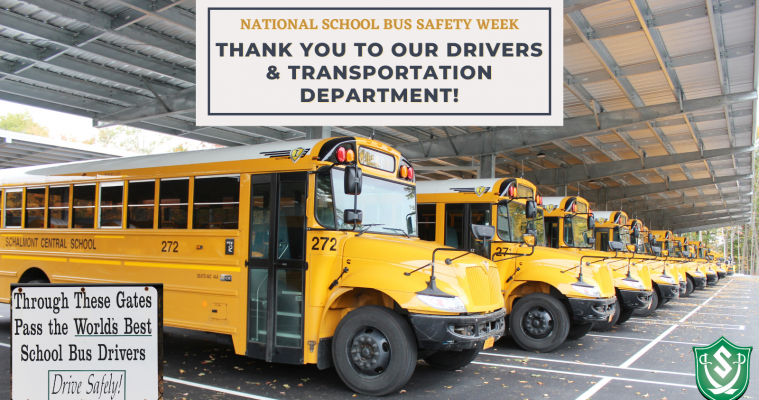National School Bus Safety Week Thank you to our drivers and Transportation Department