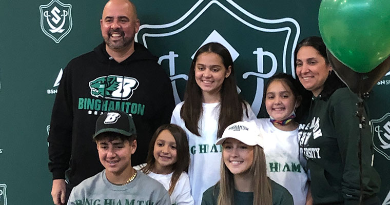 Family gathered for signing
