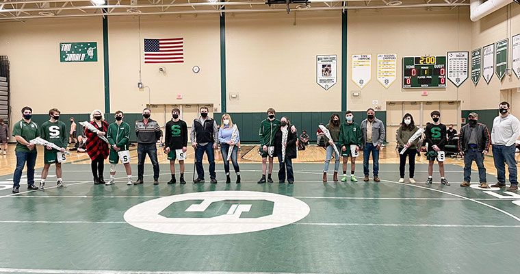 Wrestlers and family