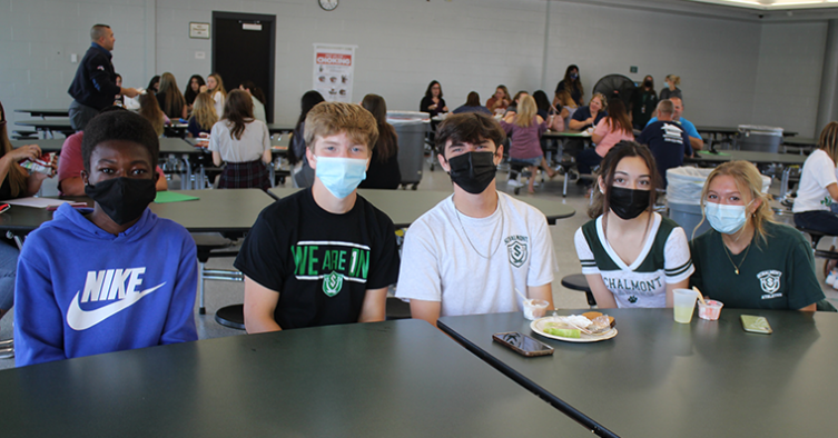 Students at lunch table